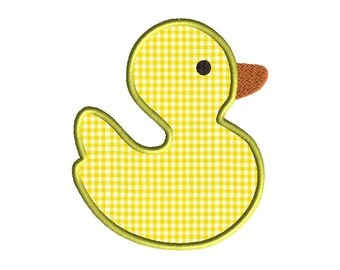 Duck Applique Machine Embroidery Design-INSTANT DOWNLOAD