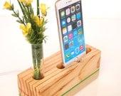 iPhone Dock plus Vase  - charging station - docking station - Decorative Bud Vase - iPhone 6+, iPhone 6S+ (gift for her)