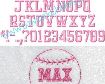 College Micro Font .3, .4, .6, .8 inch embroidery design instant download