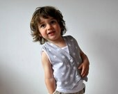 Grey starry waistcoat white stars childrens buttoned vest kids clothing formal funky wedding outfit boys girls baby toddler children