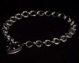 Stainless Steel Chainmail Collar/Necklace, Single Fleur Weave (8mm & 10mm rings)