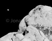 From The Earth To The Moon -- Black and White Photo Print