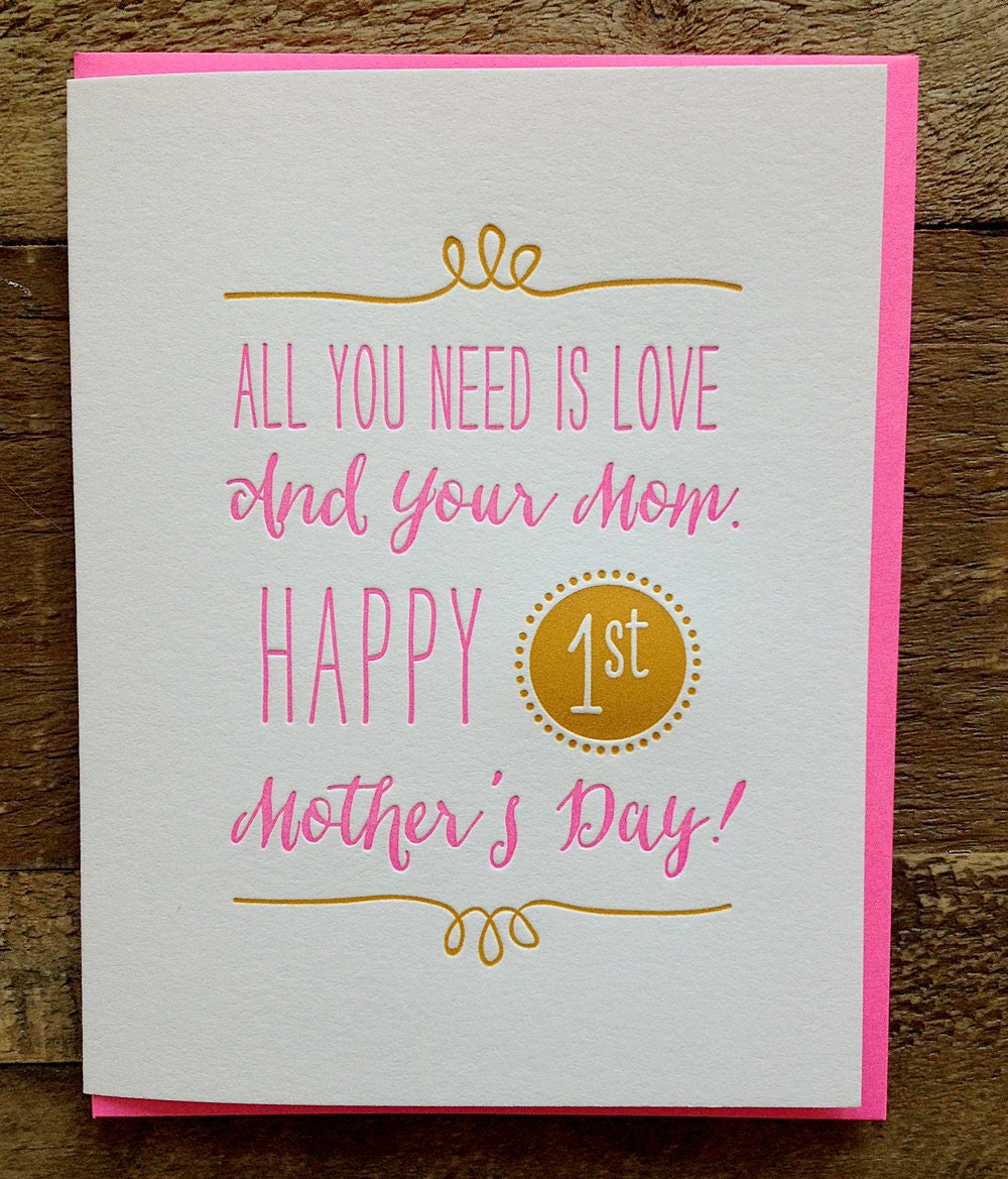 first mothers day card etsy
