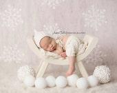 Newborn Set, Newborn Hat, Newborn Shorts, Photo Prop, White