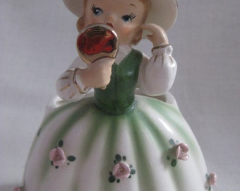 Vintage Little Girl with Mirror Relpo Planter