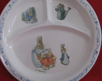 Vintage Eden Peter Rabbit and Friends Sectioned Plate