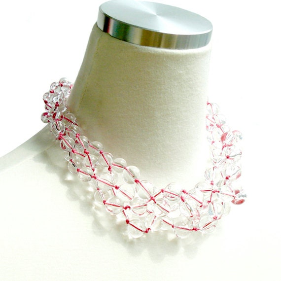Clearly Crystal Delicious Necklace - Pink