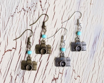 Camera Charm Earrings - 1 (one) pair - Choose option