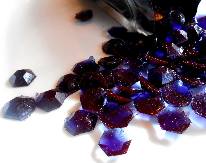 February Birthstone, Amethyst, Edible Gems, Candy Gems, Birthday Cake Decorations, Hard Candy, Dark Purple