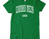 Women's Ciudad Neza Mexico T-shirt - S M L XL 2x - Ladies Neza Tee - Mexican - 4 Colors
