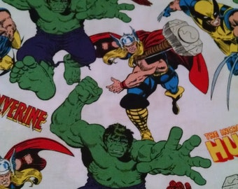 Incredible Hulk Ironman Thor Wolverine Baby Toddler Fitted Sheet  and Standard Pillowcase Super Hero