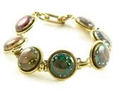 Orgone Energy Bracelet - Chakra Rainbow Bracelet in Gold - Chakra Gemstones - Balance and Healing - Artisan Jewelry