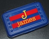 Personalized Pencil Box/ Art Supply Holder -  Back to School - #1 Choice for Back to School Gift - Assorted Colors/Designs