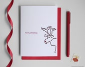 Christmas Card - Single Card - Holiday Moose