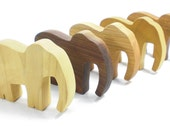 Wooden Elephant Toy Animal Party Favor, kids party favor, kids wooden toys, wooden animal toy, safari animal toy, african animal toy
