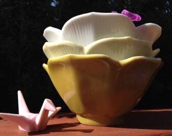 Vintage Lotus Flower Bowls set 3