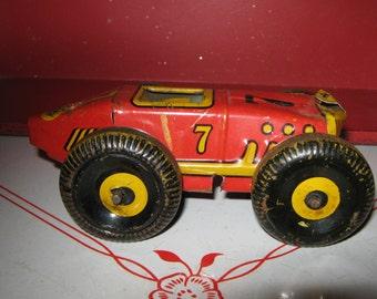 Marx Tin Boat Tail Midget Race Car 1930's Number 7