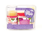 Cherry Berry Gift Set - All Natural Body & Beauty Gift Set - Lotion, Perfume, Lip Balm, Deodorant