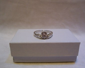 Ring, Sterling Silver, Sterling 925 Silver Ring, CZ,Size 9, Made By Lind