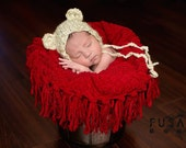 Ready to Ship, newborn baby photography prop, pop corn stretch red backdrop blanket 50x60 inches, prop posing fabric,pop corn blanket