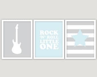 INSTANT DOWNLOAD  - Rock N Roll Little One  - rock n roll printable, rock and roll art, rock n roll art, little one, music themed nursery,