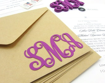 "3"" Custom Monogram Die Cuts Set of 15"