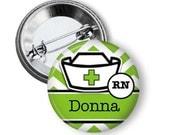 Name button badge Nurse name button badge custom made
