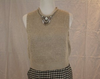 90's Vintage Banana Republic Cropped Taupe Sweater Size Large