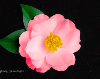 Pink Camellia Sasanqua Pin