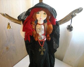 Celtic Goddess Bridget Art Doll Pagan Altar Doll