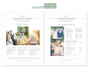 Photography Pricing Template, Price Guide List for Photographers, Wedding Photographer Photography Price Sheet, INSTANT DOWNLOAD, W101
