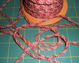 UK Seller: - 3mm wide Mixed Dusky Pink Silky Cord x five yards