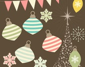 50s Christmas Clipart Volume 3  for Card Design, Scrapbooking, and Web Design,50s clipart,  Instant Download
