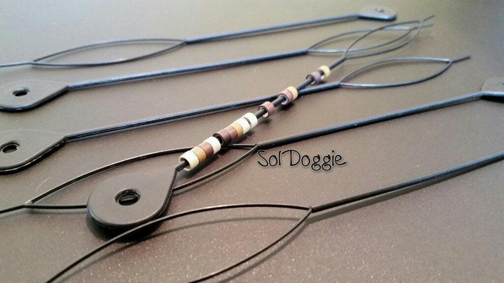 beader plastic hair bead threading tool for hair