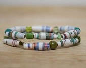 The Nutcracker Ballet Recycled Book Bead Bracelet Set, Made With Book Pages, Colorful Bracelet, Book Lover Gift