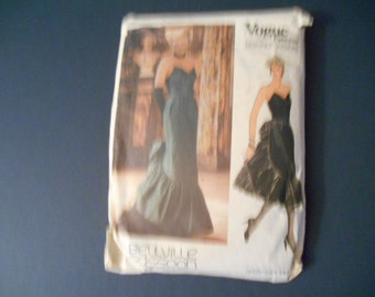 Vogue 1471,   Formal Evening Dress,   Size 14