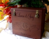 Wedding Card Box, Rustic Wedding, Gift Card Box, Wedding Box, Rustic Card Box, Engraved, Personalized