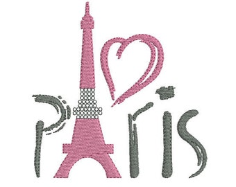 Instant download embroidery design Eiffel Tower Paris