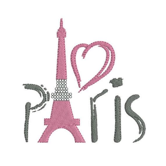 Instant download embroidery design Eiffel Tower Paris