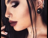 PICK SIZE & Color Black Gem fancy Plugs Wedding ear plugs gauges
