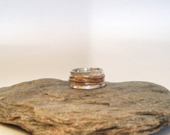 Spinner Ring - Mixed Metal Band Ring