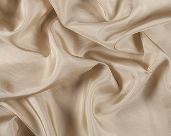 """45"""" Wide 100% Silk Habotai Antique Gold-Wholesale by the Yard"""