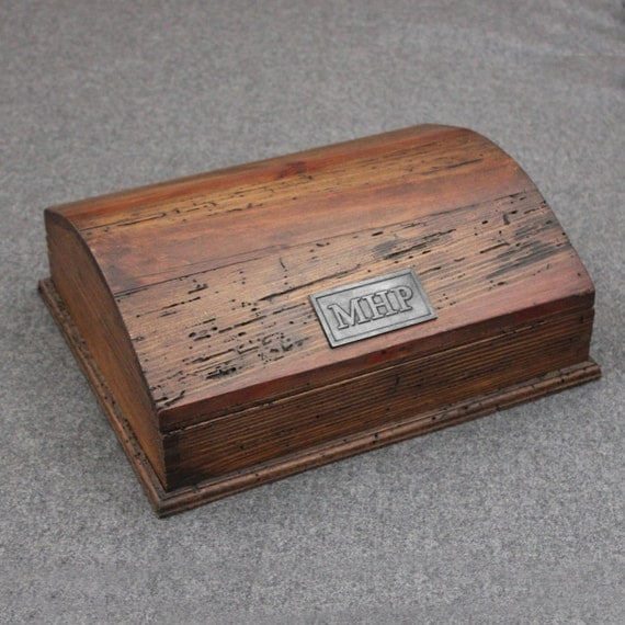 Rustic Treasure Chest Wood Box - Big Size
