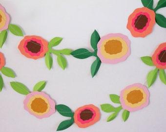 Flower Garland, Wedding Garland, Paper Garland, Party Decor, Home Decor