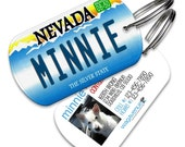 Nevada License Plate Pet Tag - Personalized Pet ID Tags, Custom Dog Tags, Cat ID Tag, Dog Name Tags, Dog Tags for Dogs, Dog License Tags