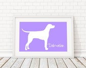 Dalmatian Silhouette Modern Dog Print - Custom Wall Art, Personalized Dog Print, Modern Dog Home Decor, Dog Portrait, Dog Art, Dog Lovers