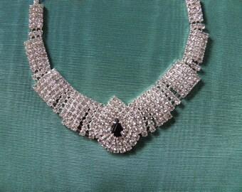 Rhinestone Glamour Girl Necklace.