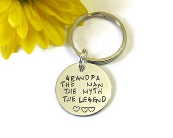 GRANDPA LEGEND KEYCHAIN -  Fathers Day gift - gift for him -christmas gift for grandpa - Gift bag included