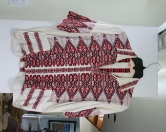 Vintage Embroidered shirt made in Greece ala 1980s