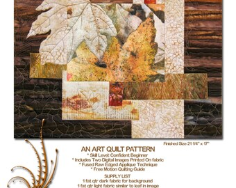 HALF OFF SALE!  Winter Garden, An Art Quilt Pattern with Photos Printed on Fabric